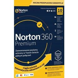 NORTON 360 PREMIUM 10 PC 1 ROK