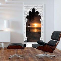 Fototapeta na drzwi - Tapeta na drzwi - Łuk gotycki i zachód słońca bogata chata