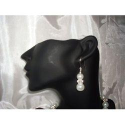 K-00004 Kolczyki z perełek szklanych białych rabat 25%