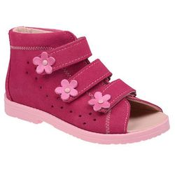 Sandały Profilaktyczne Ortopedyczne Buty DAWID 1043 Różowe RC - Różowy ||Fuksja ||Multikolor