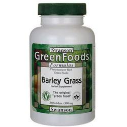 Swanson Barley Grass (Sproszkowana młoda trawa jęczmienia) 500mg 240tabl.