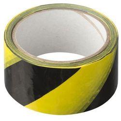 Taśma ostrzegawcza 48 mm x 33 m żółto-czarna GLOBALL