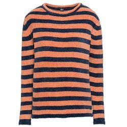 Sweter, długi rękaw bonprix różowy melanż