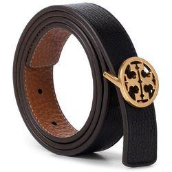 "Pasek Damski TORY BURCH - 1"" Reversible Logo Belt 56643 Black/New Cuoio/Gold 004"