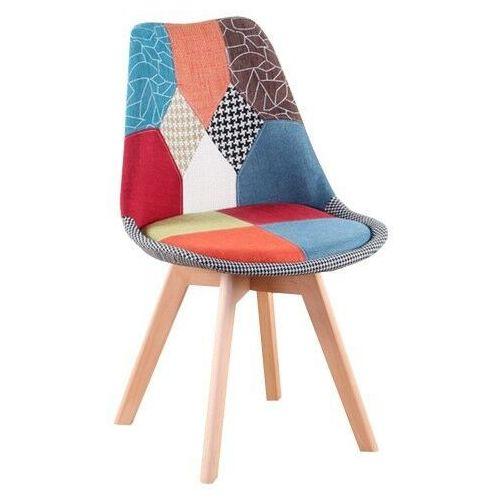 Krzesła, NOWOCZESNE KRZESŁO ART132C CZARNY WELUR