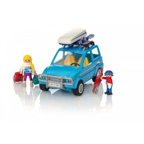 Klocki dla dzieci, Playmobil FAMILY FUN Auto z boxem dachowym 9281