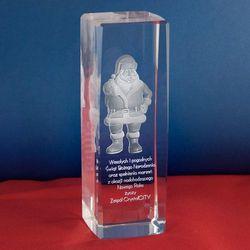 Święty Mikołaj 3D • personalizowana statuetka 3D wysoka • GRAWER 3D