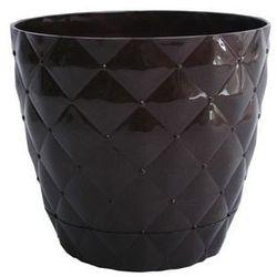 Doniczka pikowana Magnat brąz średnica 14,5 cm