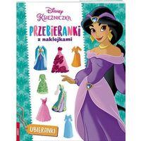 Książki dla dzieci, Disney Księżniczka. Przebieranki z naklejkami (opr. broszurowa)