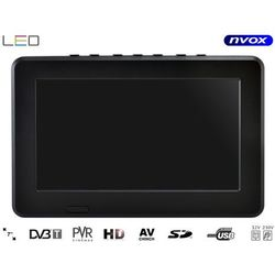 "Telewizor LED 7"" USB SD AV-in PVR DVB-T/T2 MPEG-4/2 12V 230V"