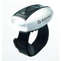 Oświetlenie rowerowe, Sigma Micro Light - przednia lampa rowerowa (srebrny)