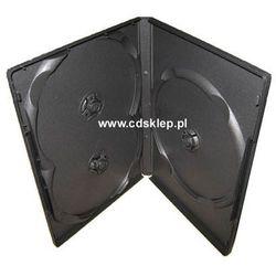 Etui plastikowe na 3DVD 14mm czarne