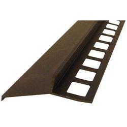 Profil aluminiowy balkonowy 44mm 2,5m - okapnik anodowany brąz