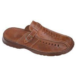 Klapki buty ŁUKBUT 954 Brązowe - Brązowy