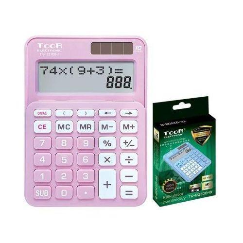 Kalkulatory szkolne, Kalkulator dwuliniowy 10-pozyc. TR-1223DB-P TOOR