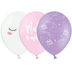 Balony pastelowe Jednorożec - 30 cm - 50 szt.