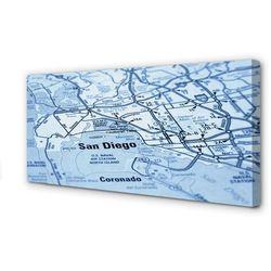 Obrazy na płótnie Mapa miasta