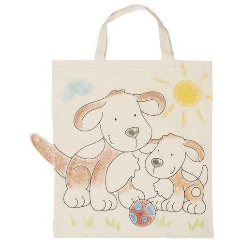 Kreatywne dla dzieci, Bawełniana torba do kolorowania - Pieski