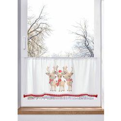 Zazdrostka z bożonarodzeniowym motywem, z bawełny organicznej bonprix biało-brązowo-czerwony