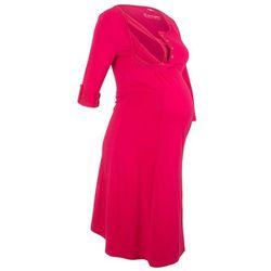 Sukienka shirtowa ciążowa i do karmienia bonprix czerwień granatu