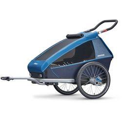 Croozer Kid Plus for 2 Przyczepka rowerowa szary/niebieski 2018 Przyczepki dla dzieci Przy złożeniu zamówienia do godziny 16 ( od Pon. do Pt., wszystkie metody płatności z wyjątkiem przelewu bankowego), wysyłka odbędzie się tego samego dnia.