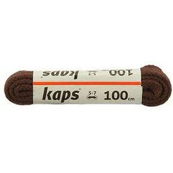 KAPS sznurowadła 100 cm 09_100_200_079 ciemny brąz, sznurowadła bawełniane, okrągłe - Brązowy