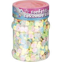 Kreatywne dla dzieci, Konfetti cekinowe - kółka pastelowe - Astra