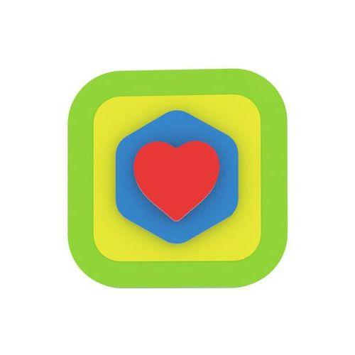 Puzzle, Moje první puzzle - Tvary čtverec/srdce zelená neuveden