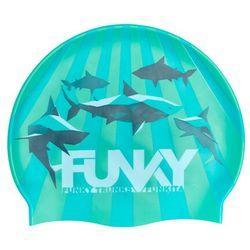 Funky Trunks Silicone Swimming Cap Boys, turkusowy 2021 Czepki
