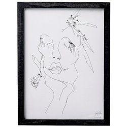 Plakat / grafika szkic kobiety, duży - Bloomingville