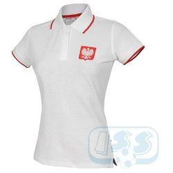 BPOL154w: Polska - koszulka polo damska