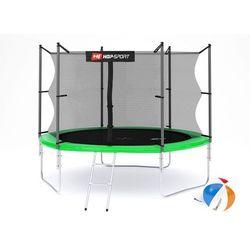 Trampolina 10ft (305cm) zielona z siatką wewnętrzną Hop-Sport - 3 nogi - zielony \ 10ft (305cm)