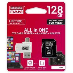 GOODRAM ALL IN ONE microSDHC 128GB Class 10+Czyt.ka - M1A4-1280R12
