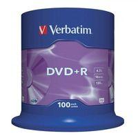 Płyty CD, DVD, Blu-ray, Płyta DVD+R Verbatim 4.7GB Cake 100szt.