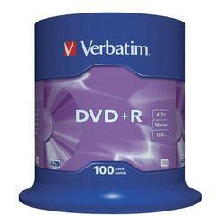 Płyta DVD+R Verbatim 4.7GB Cake 100szt.