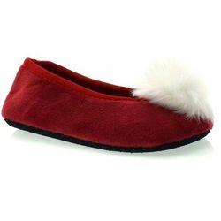 Miękkie kapcie dziecięce firmy Scorpio świąteczne - Czerwony