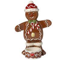 Ozdoby świąteczne, Villeroy & Boch - Winter Bakery Decoration Świecznik na tealight piernikowy ludek