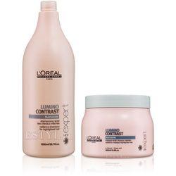 Loreal Lumino Contrast Zestaw rozświetlający | szampon 1500ml + maska 500ml