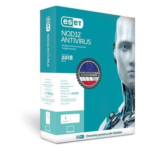 Oprogramowanie antywirusowe, ESET NOD32 Antivirus 1 user, 24 m-cy, BOX