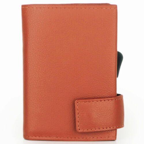 Etui i pokrowce, SecWal SecWal 2 Kreditkartenetui Geldbörse RFID Leder 9 cm orange ZAPISZ SIĘ DO NASZEGO NEWSLETTERA, A OTRZYMASZ VOUCHER Z 15% ZNIŻKĄ