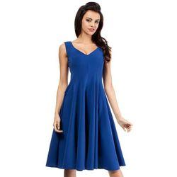 MOE201 sukienka chabrowa