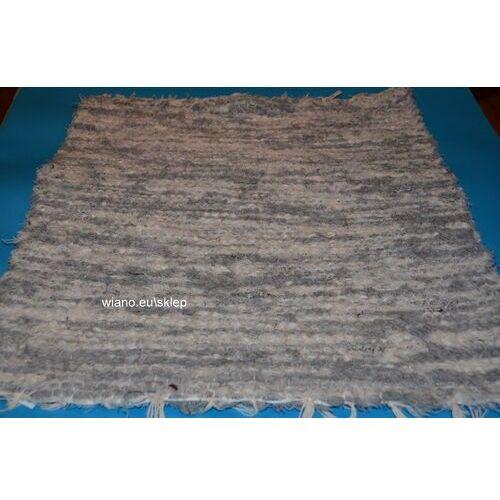 Wycieraczki, Chodnik bawełniany (wycieraczka) ręcznie tkany jasno szary-ecru 65x50