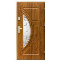 Drzwi zewnętrzne, Drzwi zewnętrzne przeszklone Splendoor Szmaragd 90 prawe dąb złoty