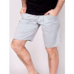 Spodenki krótkie męskie dzianinowe szare melanżowe XL