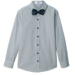 Koszula z krótkim rękawem Slim Fit bonprix biały