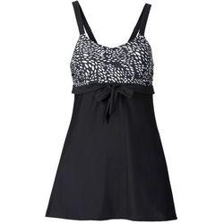 Sukienka kąpielowa wyszczuplająca bonprix czarno-biały