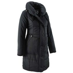 Krótki płaszcz pikowany ciążowy bonprix czarny