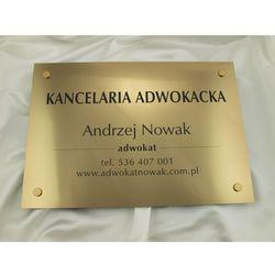 SZYLD GRAWEROWANY - KANCELARIA ADWOKACKA - złoty - SZ047 - wym. 50x35cm
