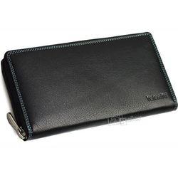 Valentini Colors 123-866K-1 portfel skórzany damski - czarny