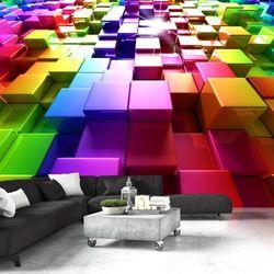 Fototapeta na flizelinie na ścianę HD - Kolorowe sześciany 200 szer. 140 wys.